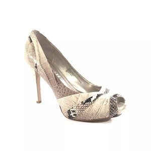 WHBM Issac Snake Skin Patterned High Heels Size 8